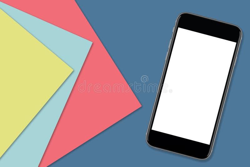 Smartphone med tomt avskärmer fotografering för bildbyråer
