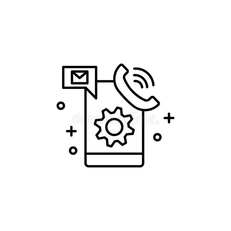 Smartphone, mededelingen, de dienstpictogram Element van klantenservicespictogram vector illustratie