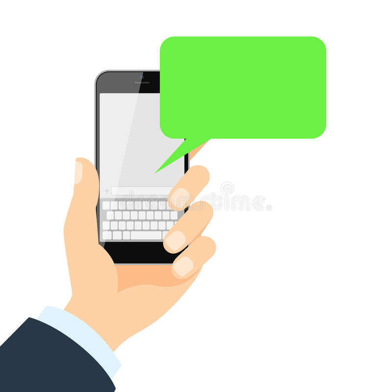 Smartphone text messaging  stock vector  Illustration of