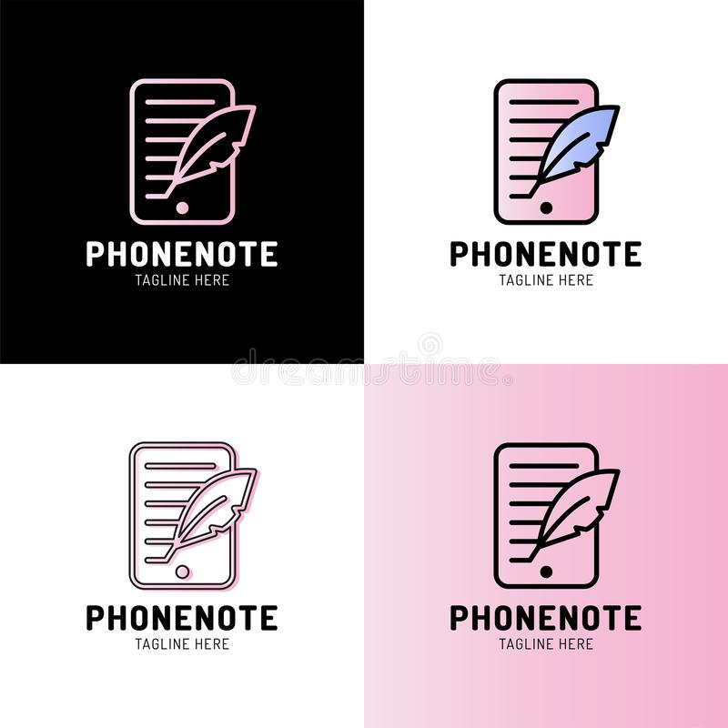 Smartphone met het pictogram van het schachtoverzicht lineair stijlteken voor mobiel concept en Webontwerp Vector van de Blogging stock illustratie