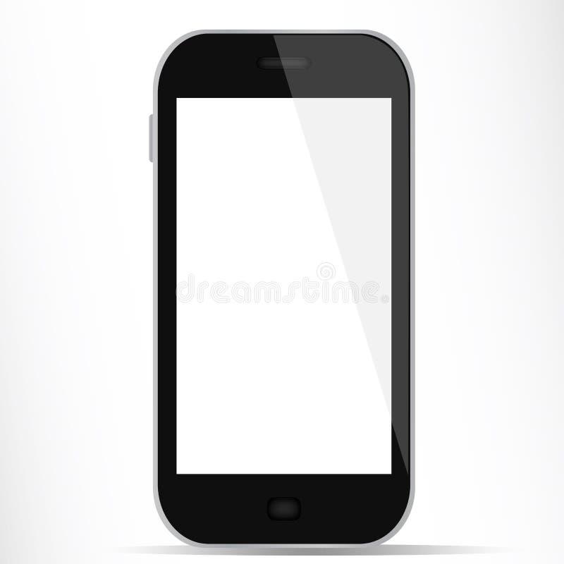 Smartphone met witte vertoning stock fotografie