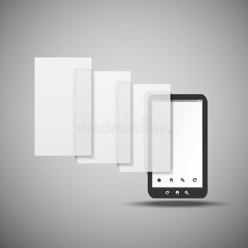 Smartphone mit Schichten lizenzfreie abbildung