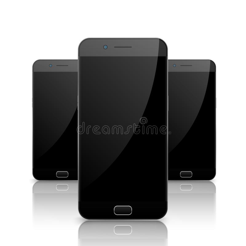 Smartphone, mobile phone isolated. Blank screen mobile vector. Cellphone communication technology vector illustration