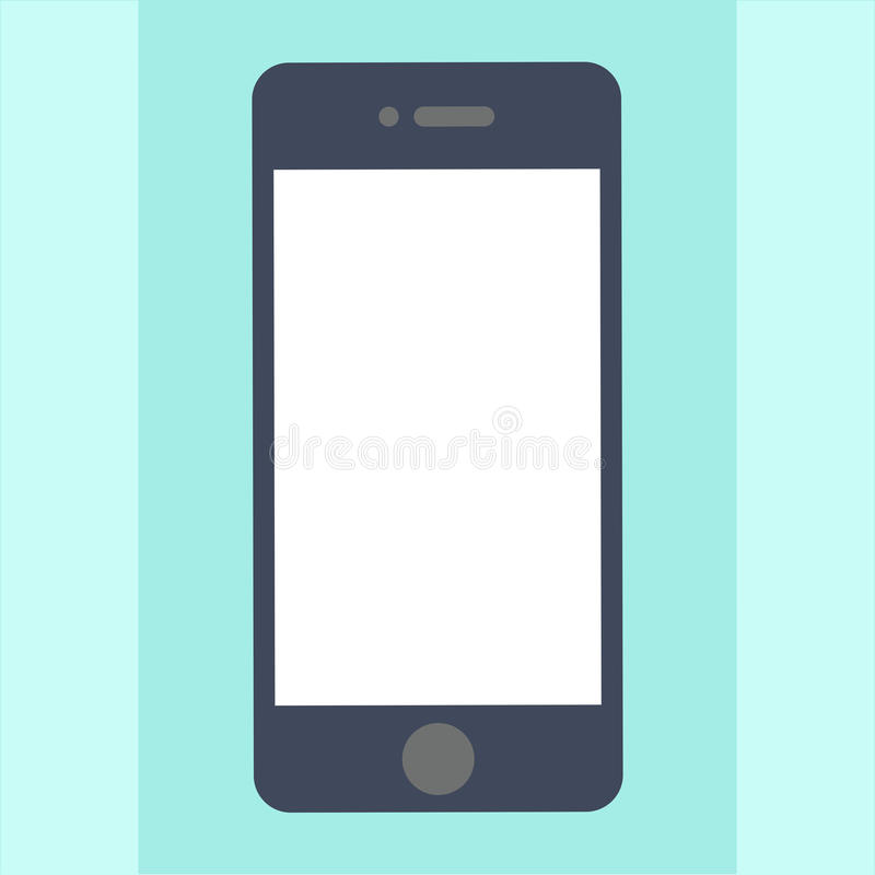 Smartphone mobile phone technology business card icon flat web sign symbol logo label royalty free illustration