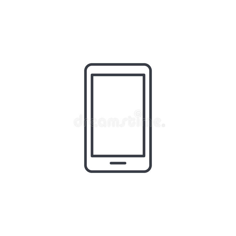 Smartphone, mobile phone thin line icon. Linear vector symbol. Smartphone, mobile phone thin line icon. Linear vector illustration. Pictogram isolated on white vector illustration