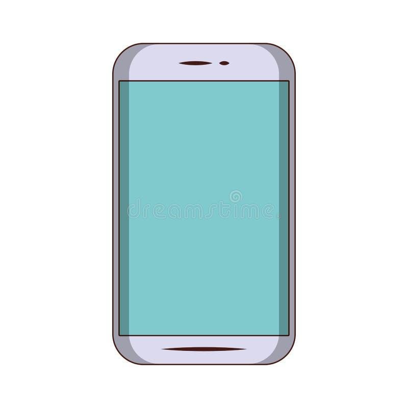 Smartphone mobilnej technologii odosobniony symbol ilustracji