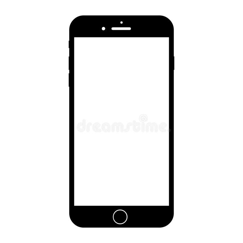 New modern white smartphone similar to iphone 8 plus vector illustration
