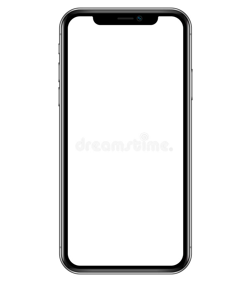 Apple iPhone X 10 Smartphone vector illustration