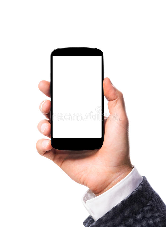 Smartphone moderno à disposição imagem de stock