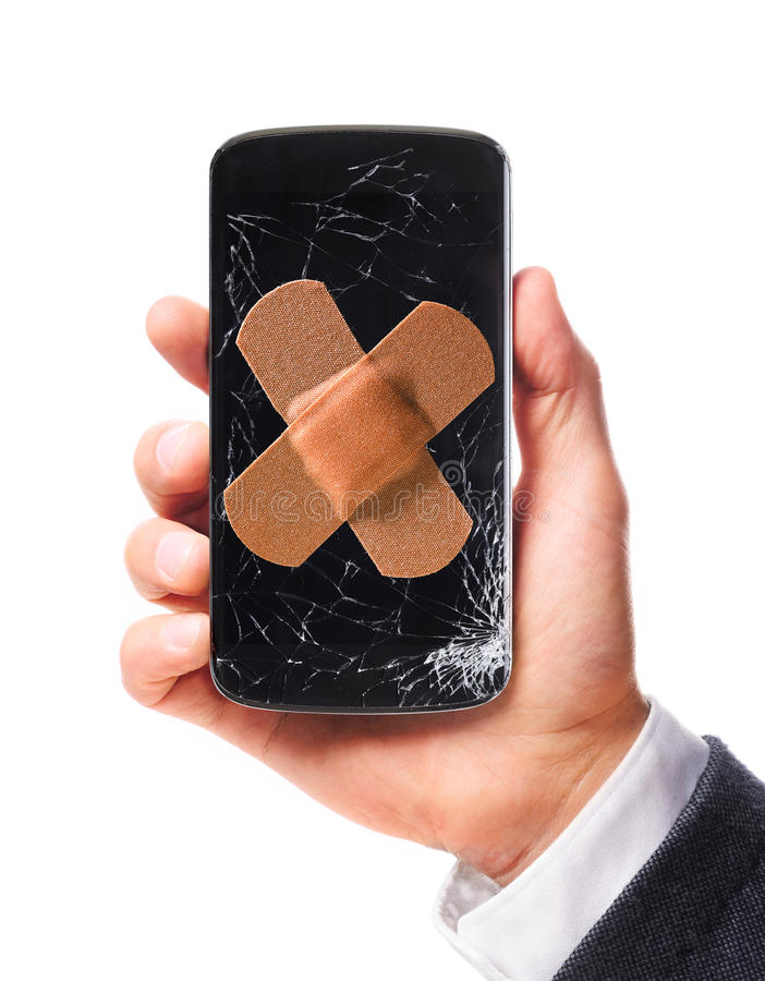 Smartphone moderno à disposição imagens de stock royalty free