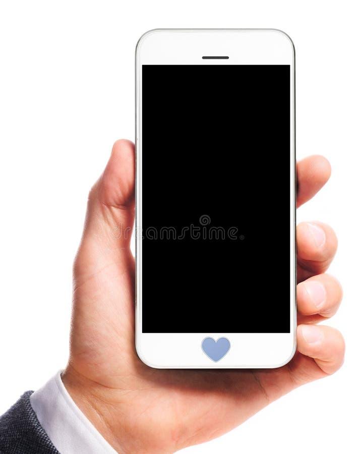 Smartphone moderno à disposição fotografia de stock