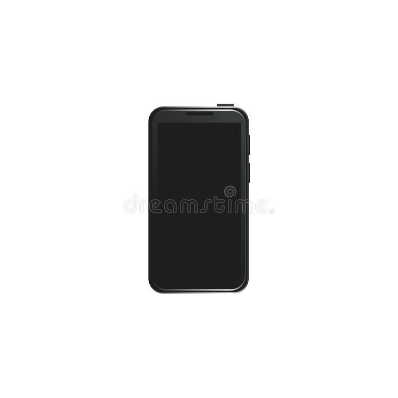 Smartphone moderno del estilo del negro plano del vector ilustración del vector