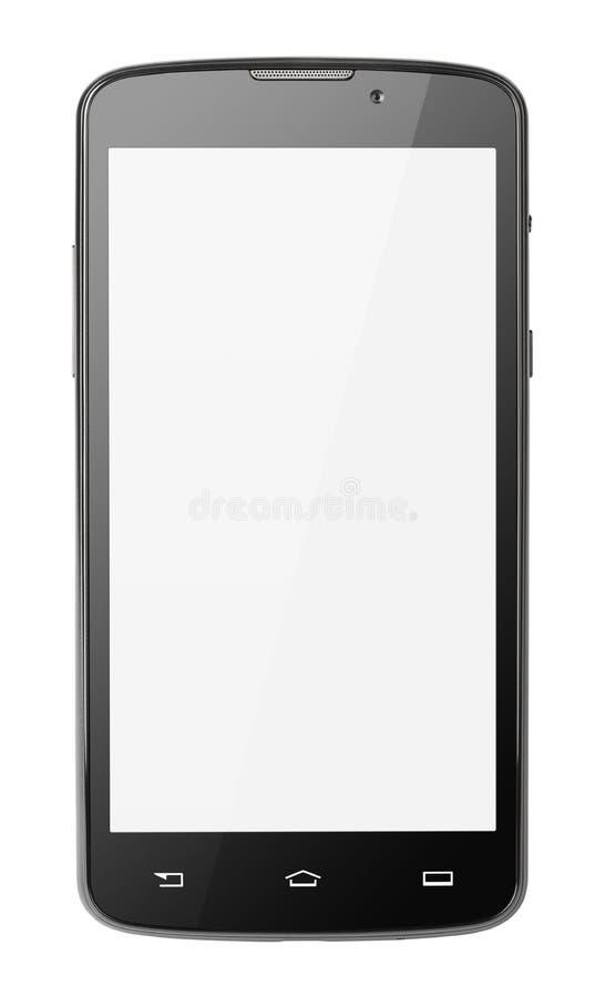Smartphone moderno del touch screen isolato su bianco fotografia stock libera da diritti
