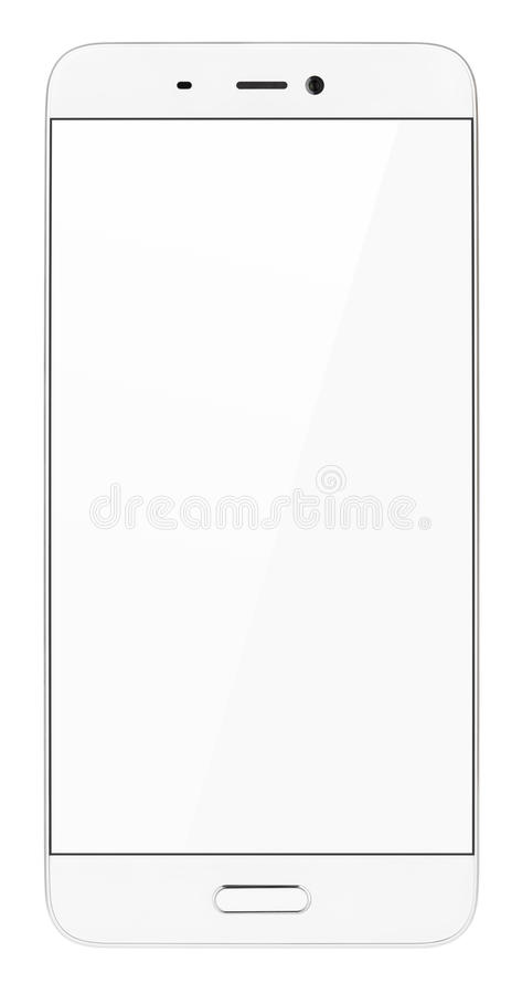 Smartphone moderno del touch screen isolato su bianco fotografia stock