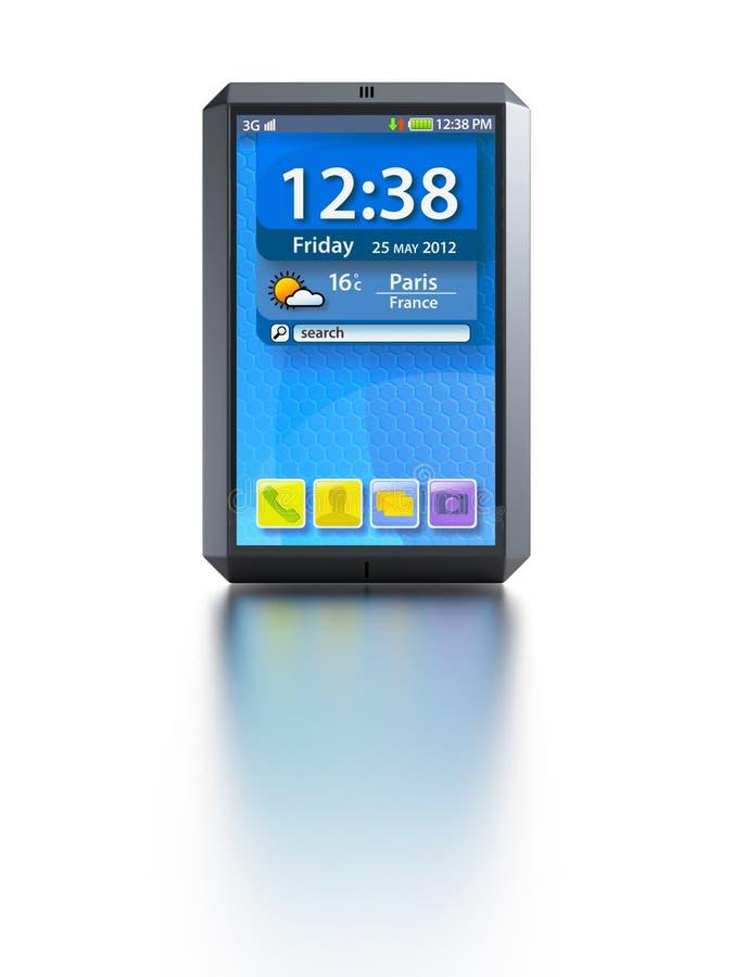 Smartphone moderno dello schermo attivabile al tatto illustrazione vettoriale
