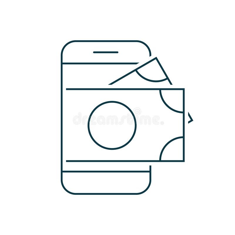 Smartphone with money on screen royalty free illustration