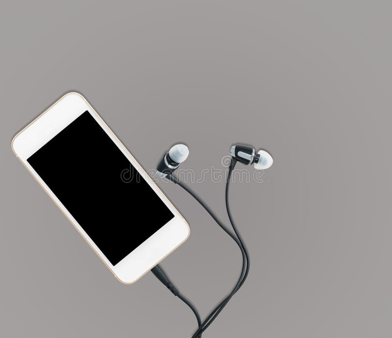 Download Smartphone Music Player And Earbuds Stock Image - Image: 83705079