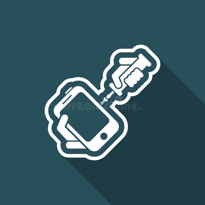 Smartphone naprawa ilustracji