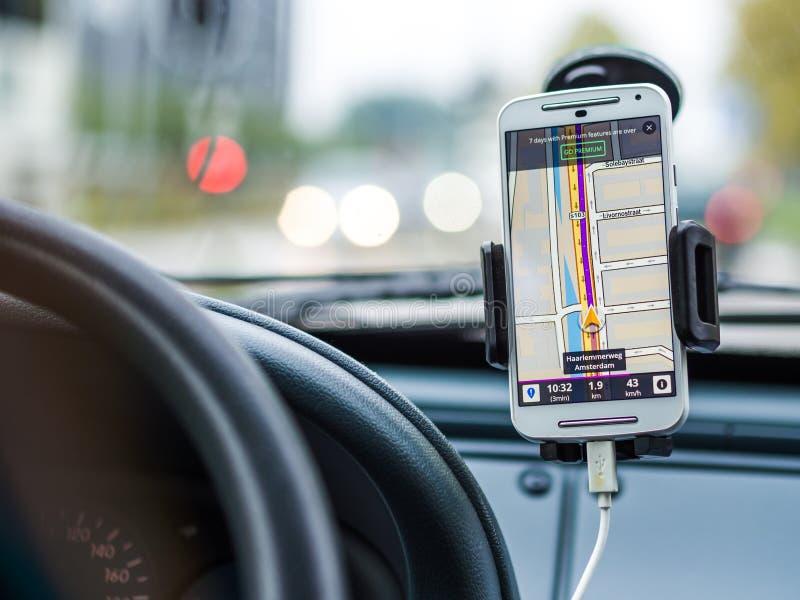 Smartphone-Navigation stockfotos