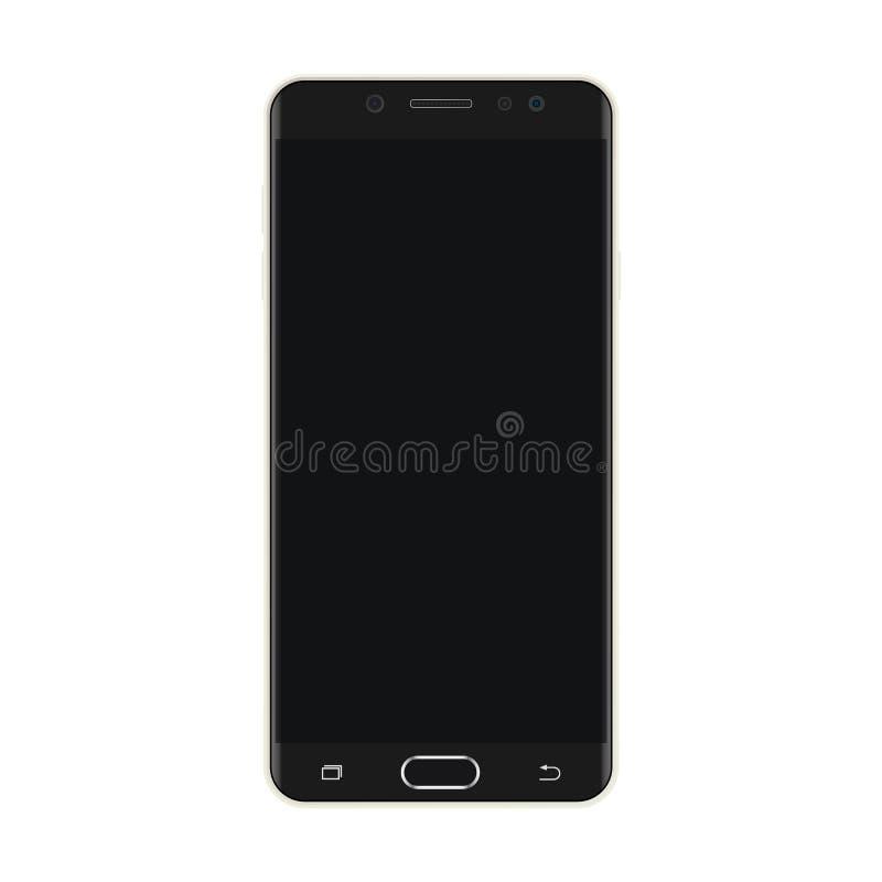 Smartphone negro con el vector negro eps10 de la pantalla Smartphone realista con el icono negro de la pantalla libre illustration