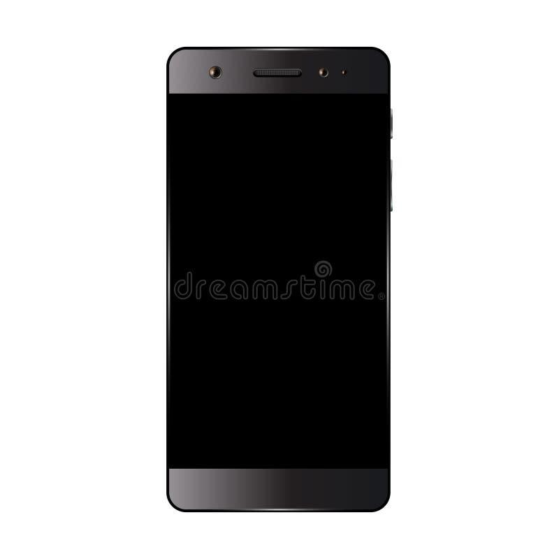 Smartphone nero isolato illustrazione di stock