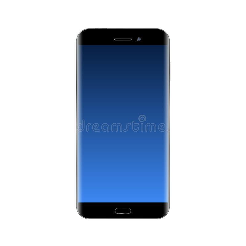 Smartphone noir 5 illustration libre de droits