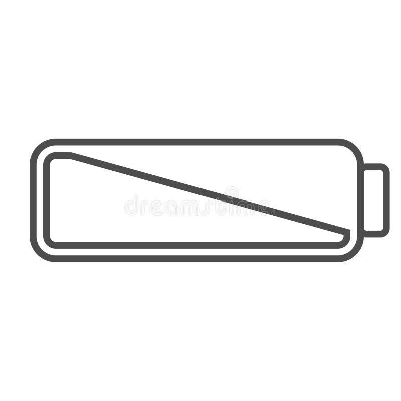 Smartphone Oder Ikone Der Handyschwachen Batterie Symbol Der ...