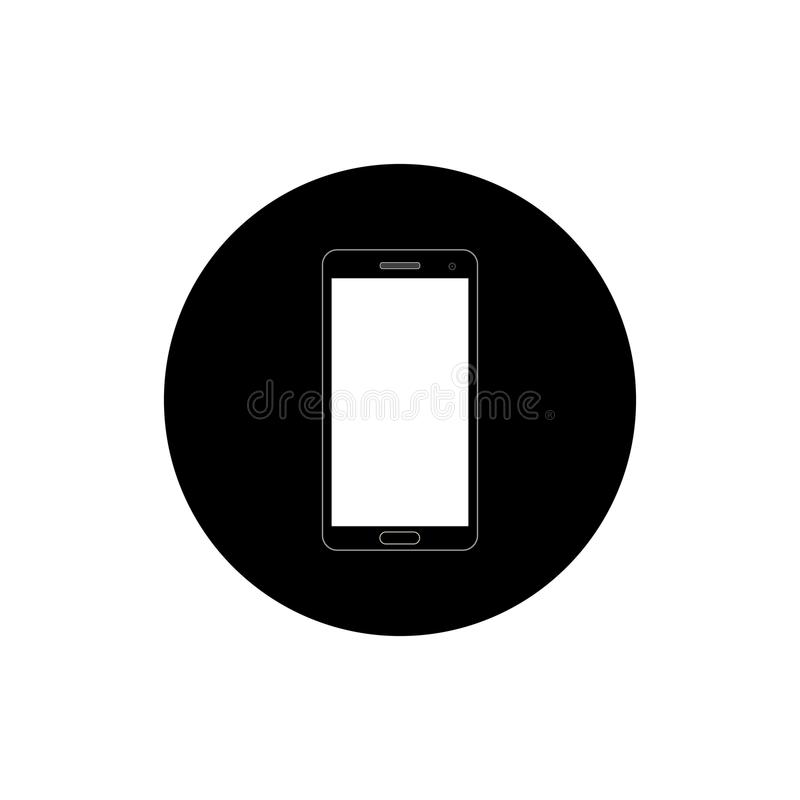 Smartphone om pictogramillustratie stock foto