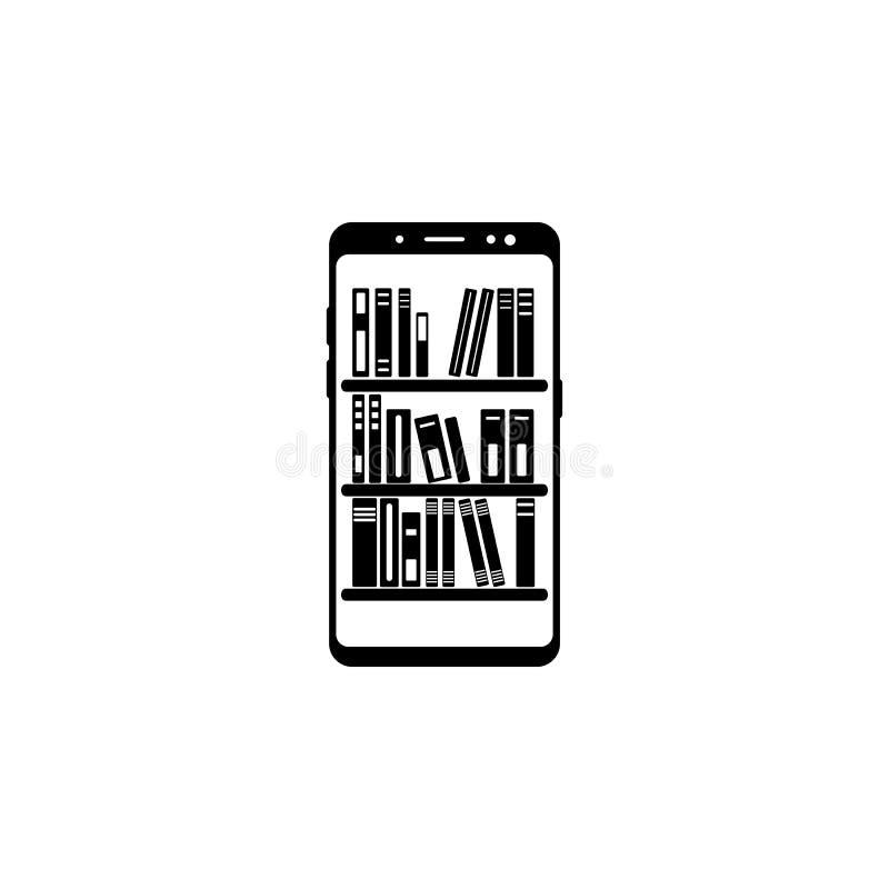 smartphone online biblioteczna wektorowa ikona dla stron internetowych i mobilnego minimalistic płaskiego projekta royalty ilustracja
