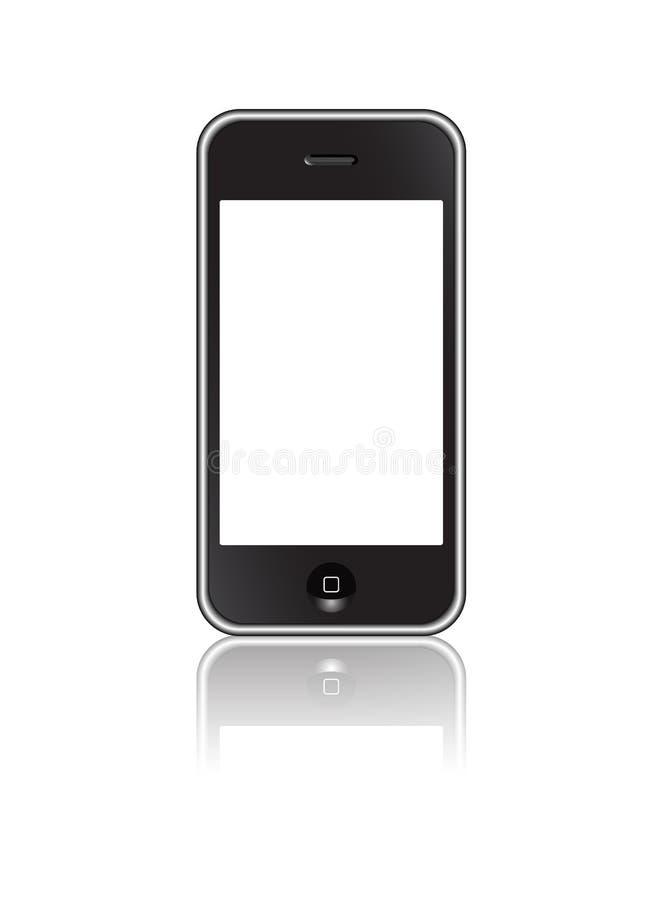 Smartphone pekskärm royaltyfri illustrationer