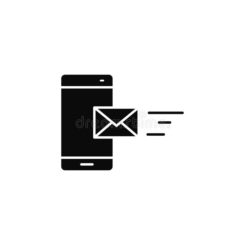 Smartphone, phone, lettericon. Simple glyph, flat vector of smartphone icons for UI and UX, website or mobile application. On white background vector illustration
