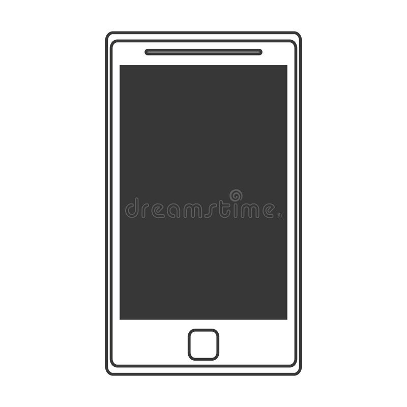smartphone phone mobile flat icon vector illustration