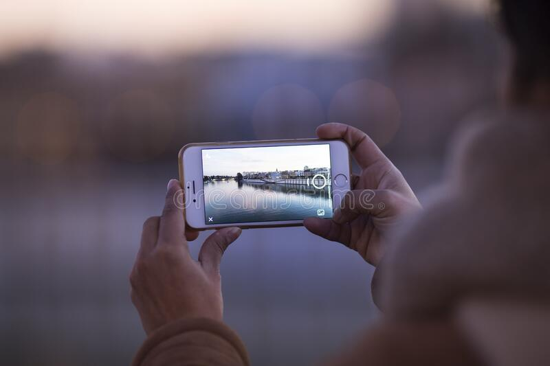 Smartphone photography royalty free stock image