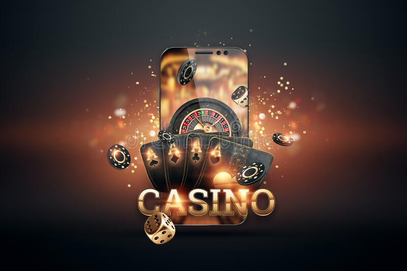 Smartphone With Playing Cards Chips And Roulette Black Gold Background Concept Of Online Gambling Online Casino Copy Space Stock Illustration Illustration Of Gambling Playing 197363132