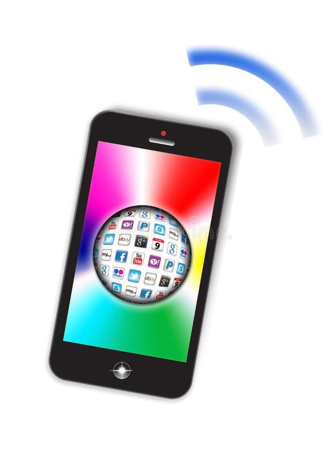Smartphone pojęcia Apps bąbel royalty ilustracja