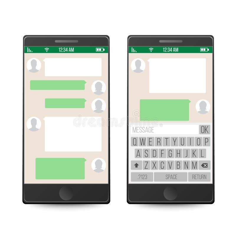 Smartphone pojęcie cyfrowo wytwarzał cześć wizerunku sieci res socjalny wektor Gona Nadokienny projekt Wisząca ozdoba app dla opo ilustracja wektor