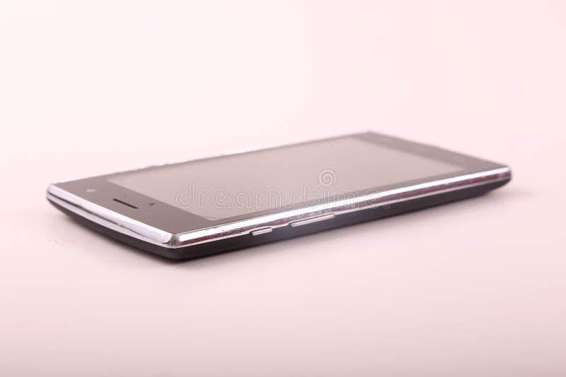 Smartphone preto imagem de stock