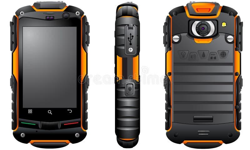 Smartphone protegido áspero do androide da rocha V5 de AGM ilustração do vetor