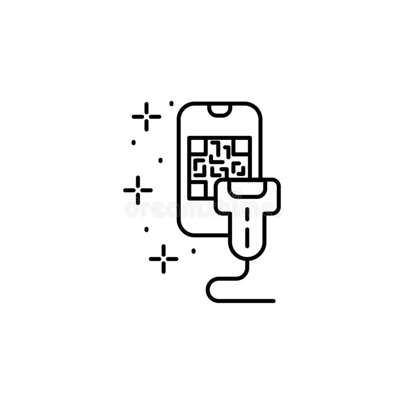 Smartphone QR code scanner icon. Element of qr code and barcode icon stock illustration