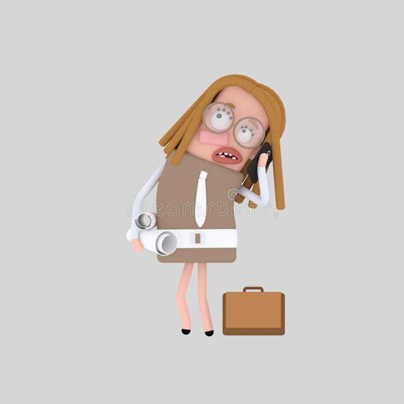 Smartphone que habla de la secretaria libre illustration