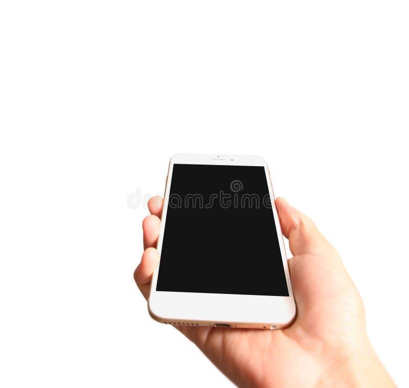 Smartphone räcker in arkivbilder