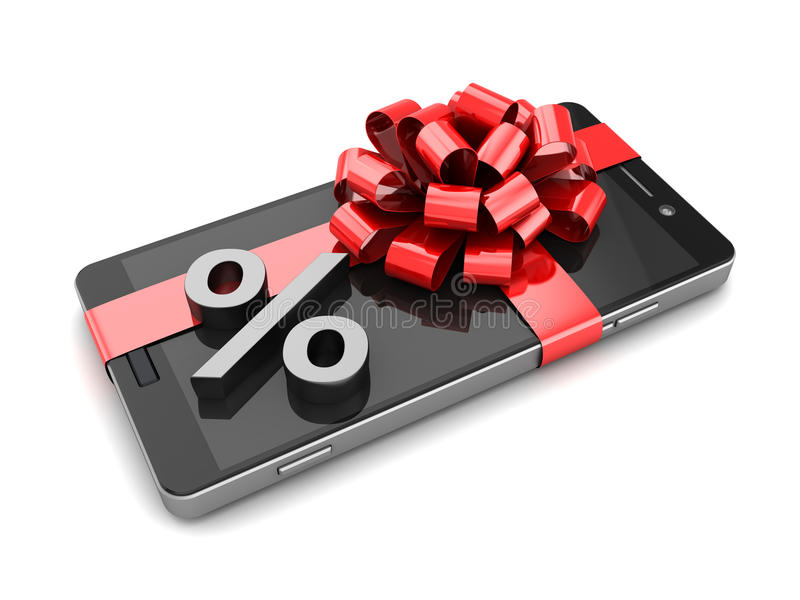 Smartphone-Rabatt lizenzfreie abbildung