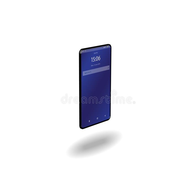 Smartphone realista isométrico Aislado en un fondo blanco ilustración del vector
