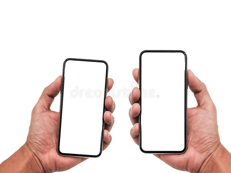 Smartphone semblable aux xs d'iphone maximum avec l'écran blanc vide pour le plan marketing d'affaires globales d'Infographic, mo images libres de droits