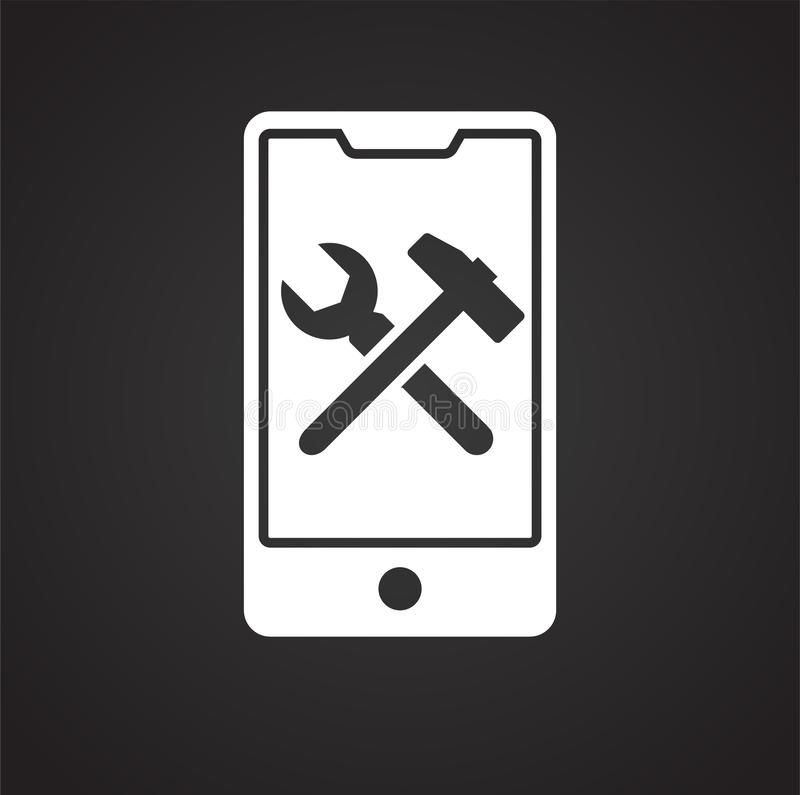 Smartphone service related icon on background for graphic and web design. Simple illustration. Internet concept symbol. For website button or mobile app royalty free illustration
