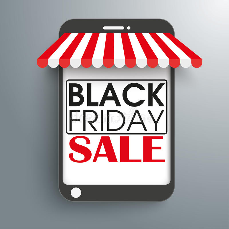 Free Smartphone Shop Curtain Black Friday Stock Photography - 61905412