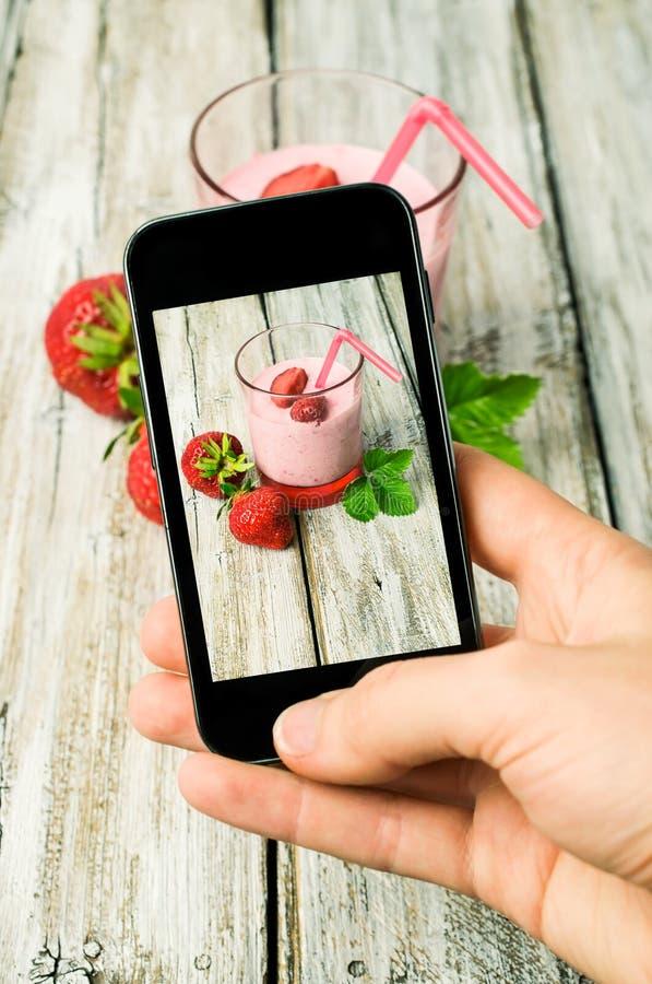 Smartphone shot food photo royalty free stock photo