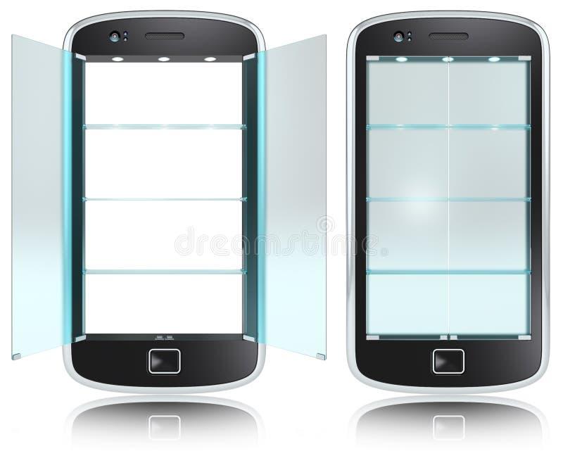 Smartphone skärm. stock illustrationer