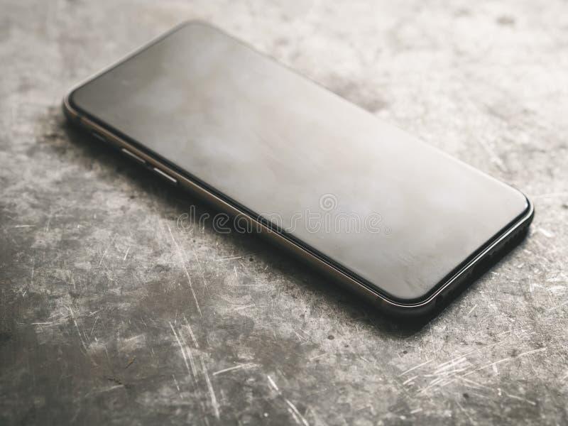 Smartphone Smartphone noir classique photo stock