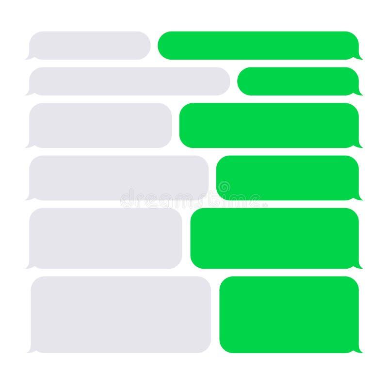 Smartphone SMS pratstund bubblar konstruktöruppsättningen stock illustrationer